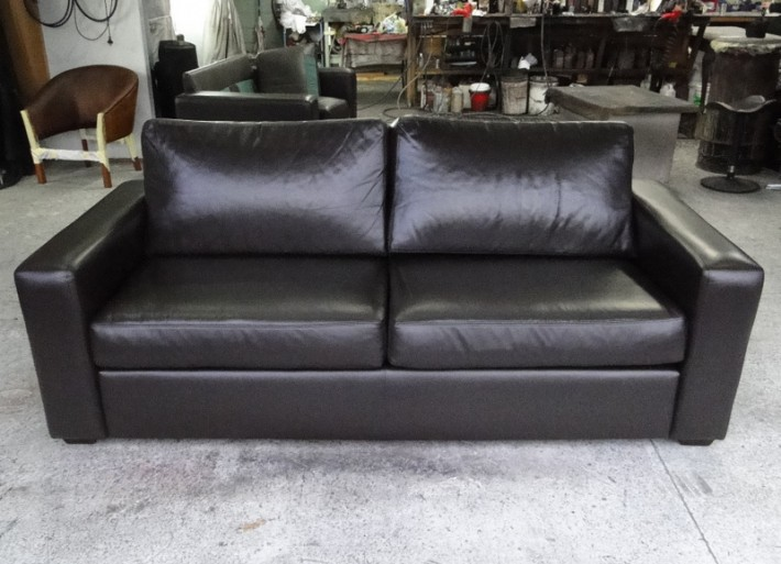 worn tired leather couch restored leather repair care