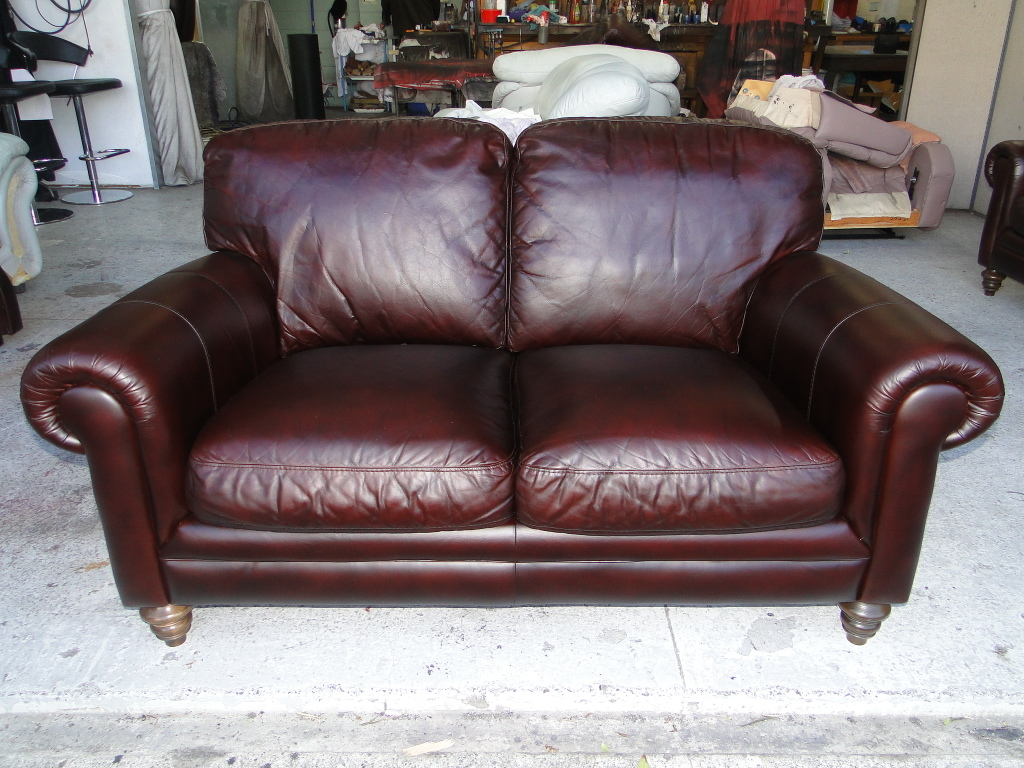 Sun Faded Natuzzi Couch Restored Leather Repair Care
